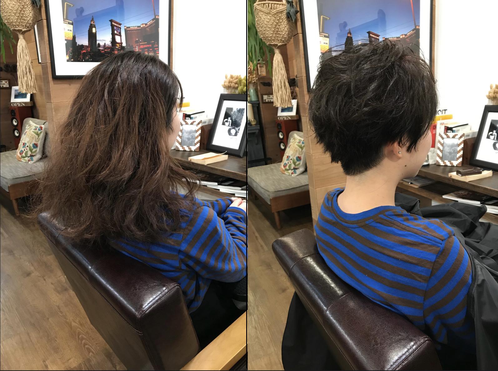 くせ毛ショート比較