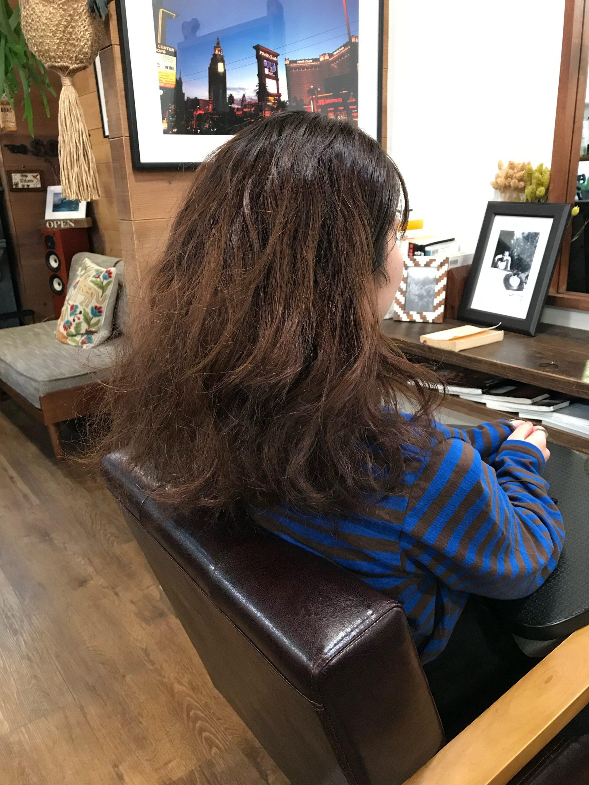 強いくせ毛